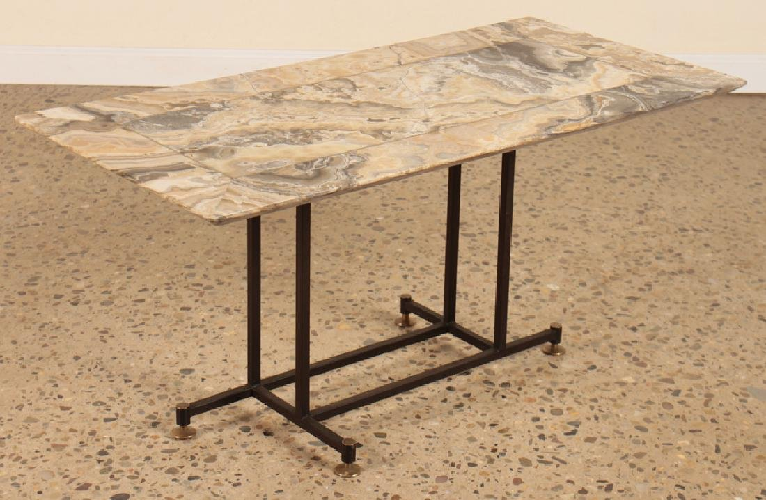 MID CENTURY MODERN ITALIAN ONYX TOP COFFEE TABLE