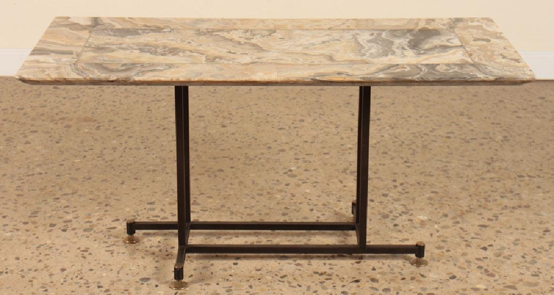 MID CENTURY MODERN ITALIAN ONYX TOP COFFEE TABLE - 2