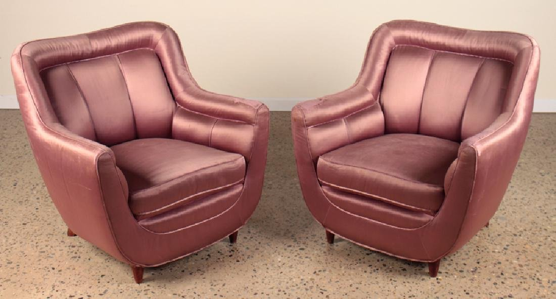 PAIR ITALIAN CLUB CHAIRS MANNER OF GIO PONTI