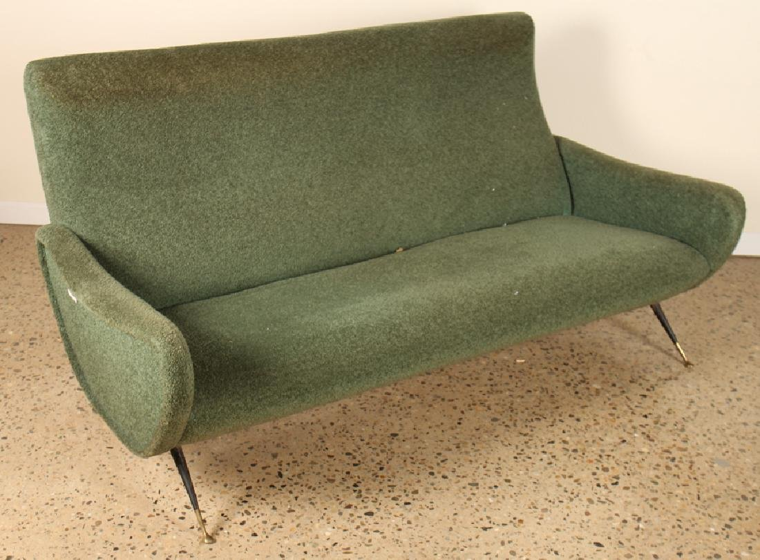 ITALIAN UPHOLSTERED SOFA MANNER OF MARCO ZANUSO