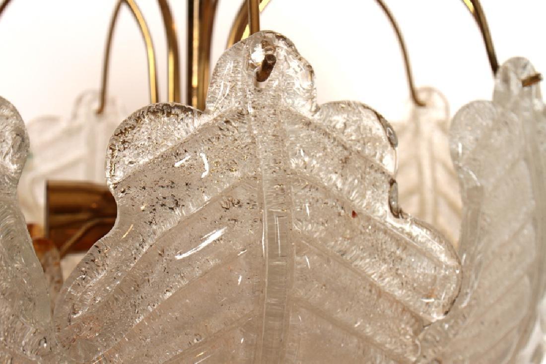 MID CENTURY MODERN ITALIAN GLASS CHANDELIER C1960 - 3
