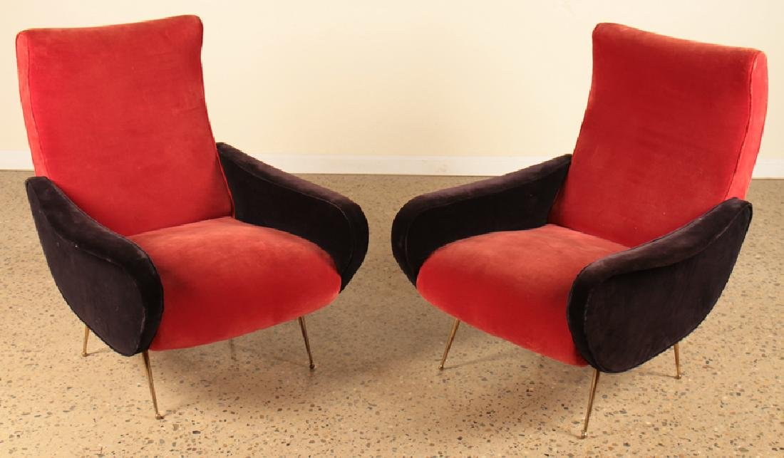 PAIR ITALIAN ARM CHAIRS MANNER OF MARCO ZANUSO