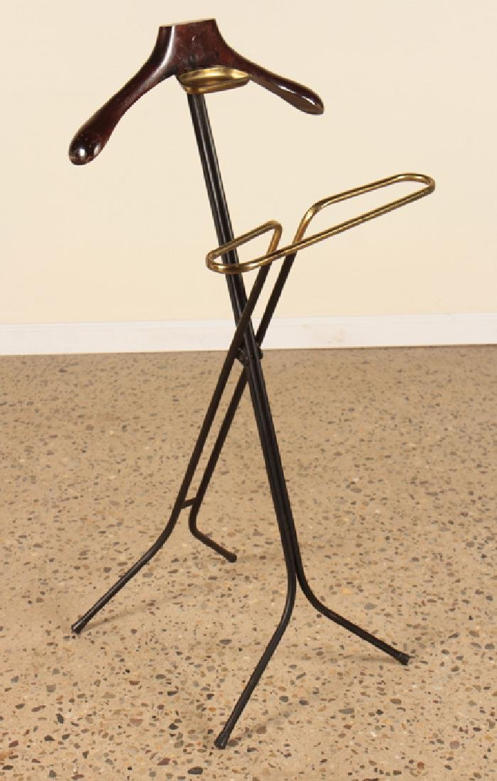 ITALIAN METAL AND BRASS VALET STAND CIRCA 1960