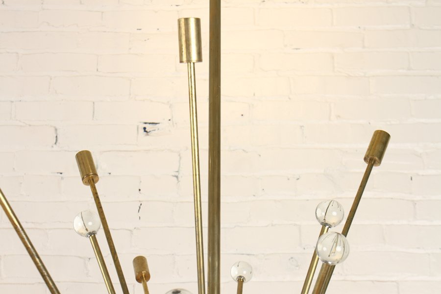 23 ARM BRONZE SPUTNIK CHANDELIER CIRCA 1960 - 2