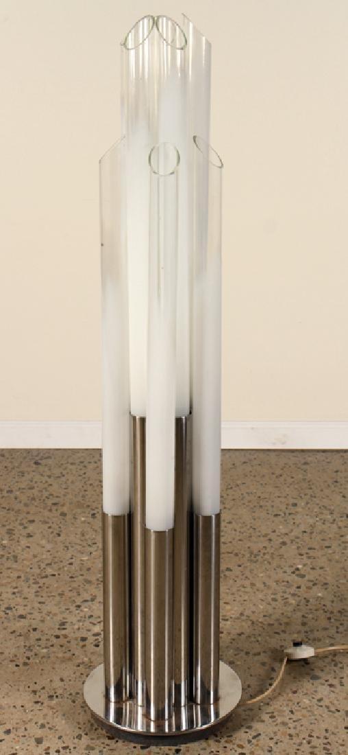 MID CENTURY MODERN ITALIAN CHROME FLOOR LAMP