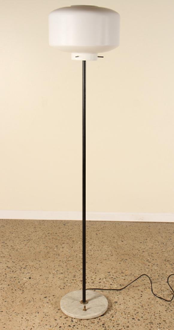 MID CENTURY MODERN ITALIAN FLOOR LAMP GLASS SHADE