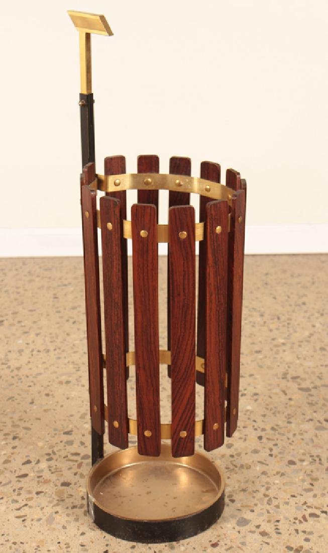 ITALIAN WOOD AND IRON UMBRELLA STAND CIRCA 1950
