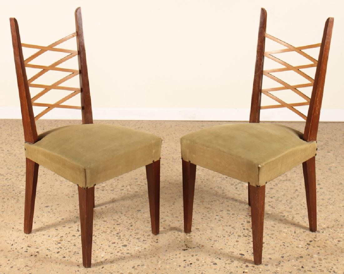 PAIR MID CENTURY MODERN ITALIAN SIDE CHAIRS