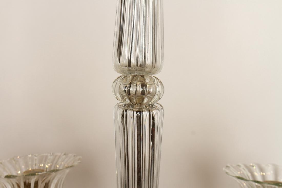 ITALIAN MURANO GLASS 6 ARM CHANDELIER 1960 - 3