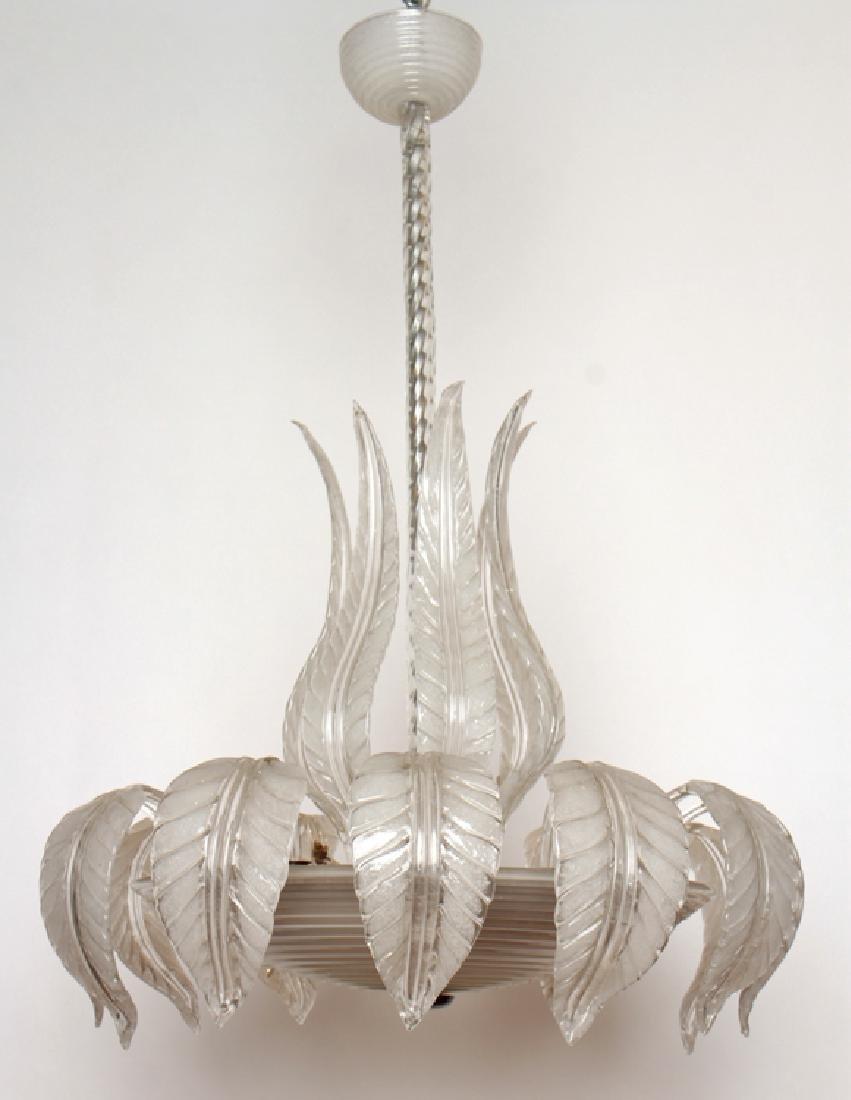 MURANO GLASS CHANDELIER CIRCA 1950