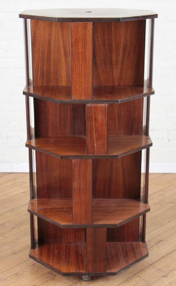 ITALIAN 8 SIDED ROSEWOOD OPEN BOOKCASE