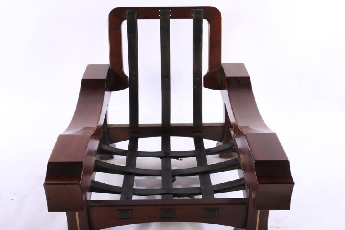 LARGE PAIR ITALIAN MAHOGANY CLUB CHAIRS 1960 - 6