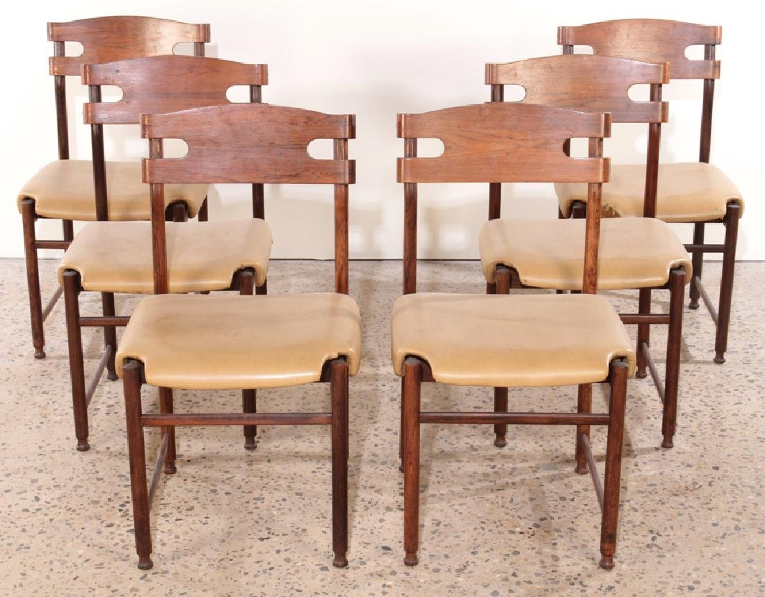 SET OF 6 ITALIAN ROSEWOOD DINING CHAIRS C.1960