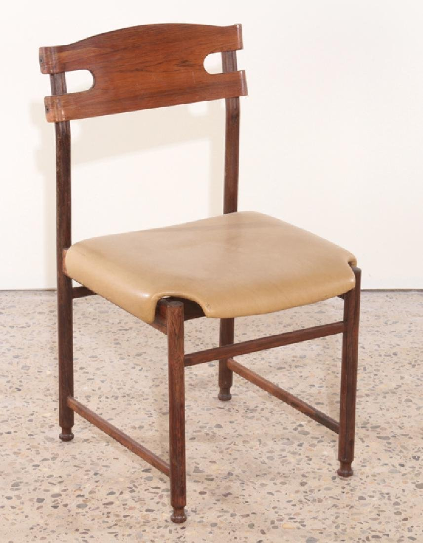 SET OF 6 ITALIAN ROSEWOOD DINING CHAIRS C.1960 - 2