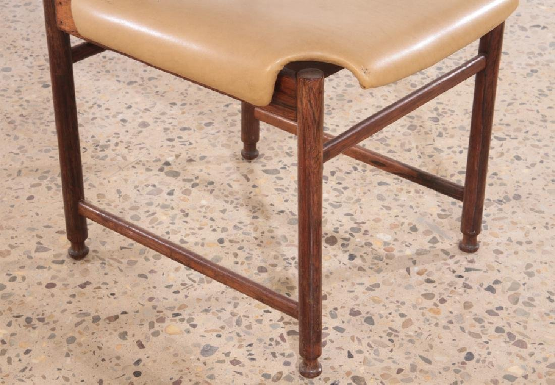 SET OF 6 ITALIAN ROSEWOOD DINING CHAIRS C.1960 - 5