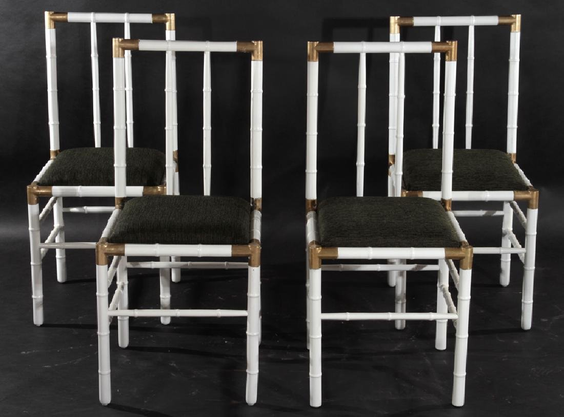 SET 4 BILLY HAINES STYLE DINING CHAIRS CIRCA 1970