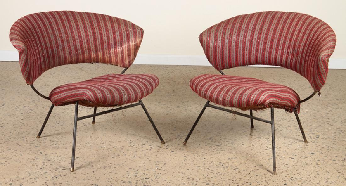 PAIR OF ITALIAN CHAIRS IN THE MANNER OF BBPR 1960