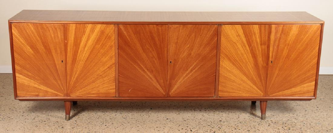 AFRICAN MAHOGANY SIDEBOARD STARBURST DESIGN C1960