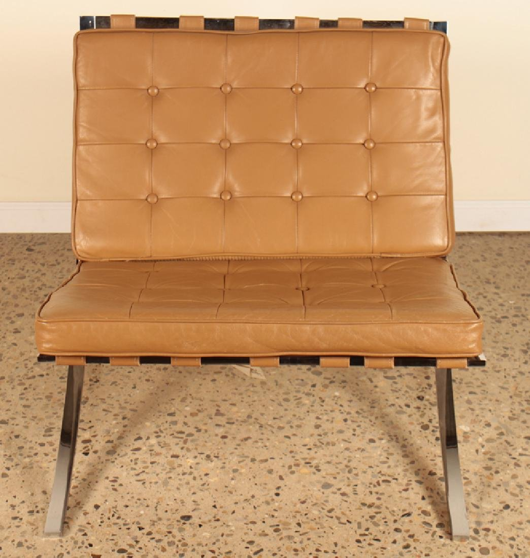PAIR BARCELONA CHAIRS TUFTED LEATHER C.1975 - 3