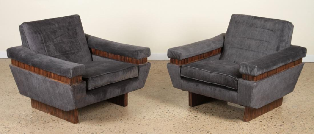 PAIR OF MID CENTURY MODERN MACASSAR LOUNGE CHAIR
