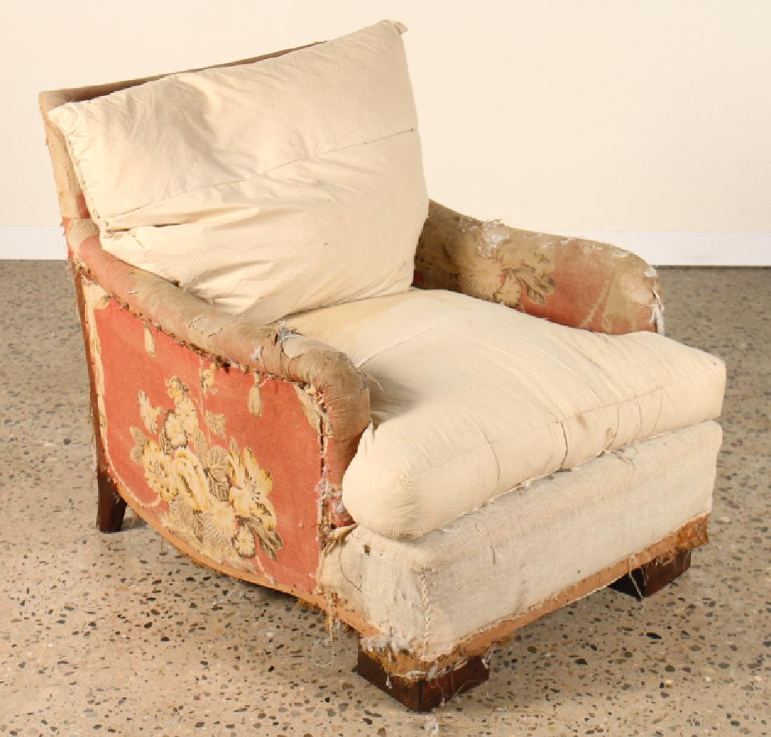 UPHOLSTERED CLUB CHAIRS MANNER OF ANDRE ARBUS - 2