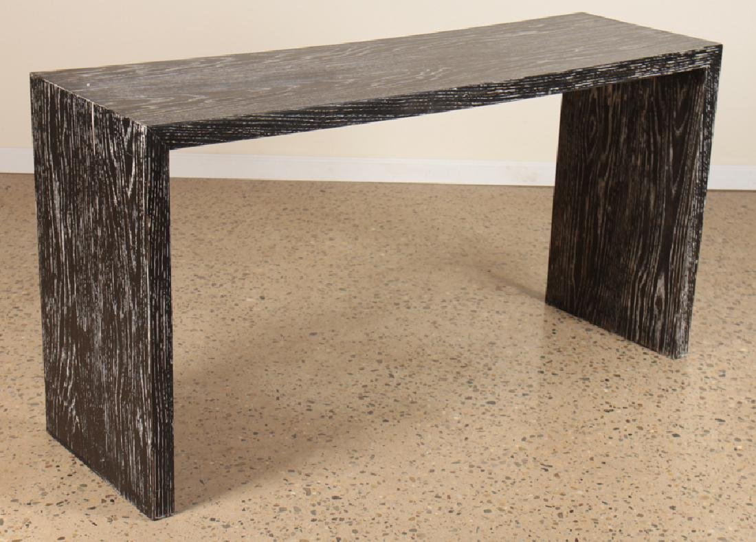 CERUSED OAK JEAN-MICHEL FRANK STYLE CONSOLE TABLE