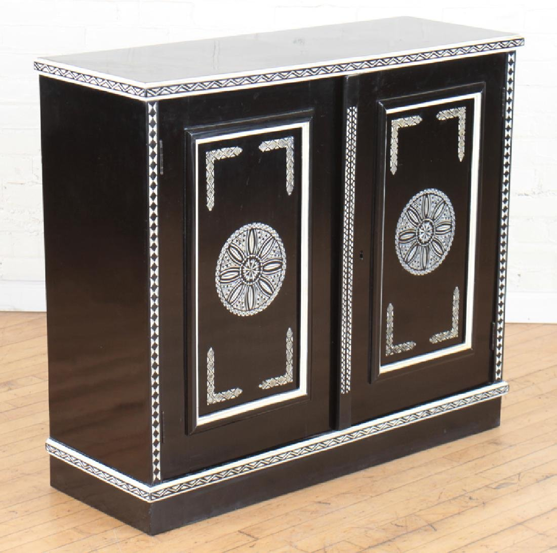 CARVED EBONIZED CABINET MANNER OF FORNASETTI - 2