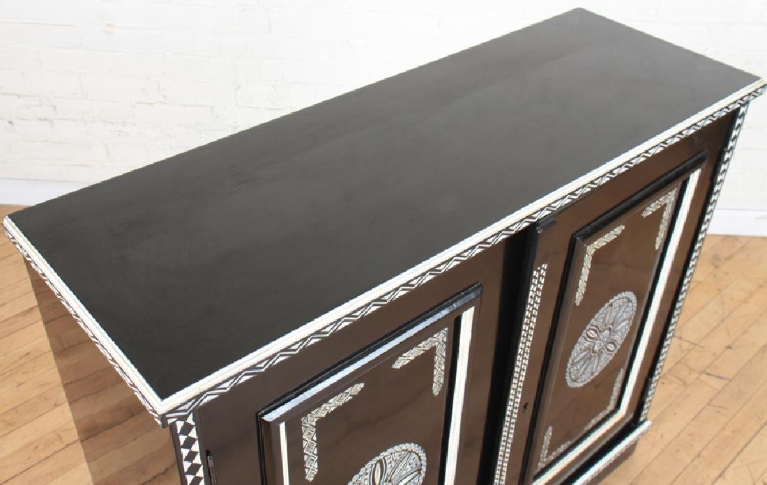 CARVED EBONIZED CABINET MANNER OF FORNASETTI - 3