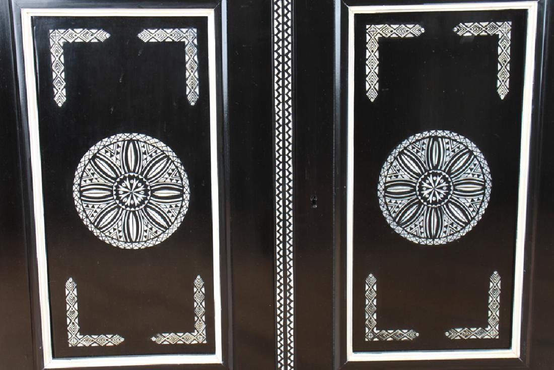 CARVED EBONIZED CABINET MANNER OF FORNASETTI - 5