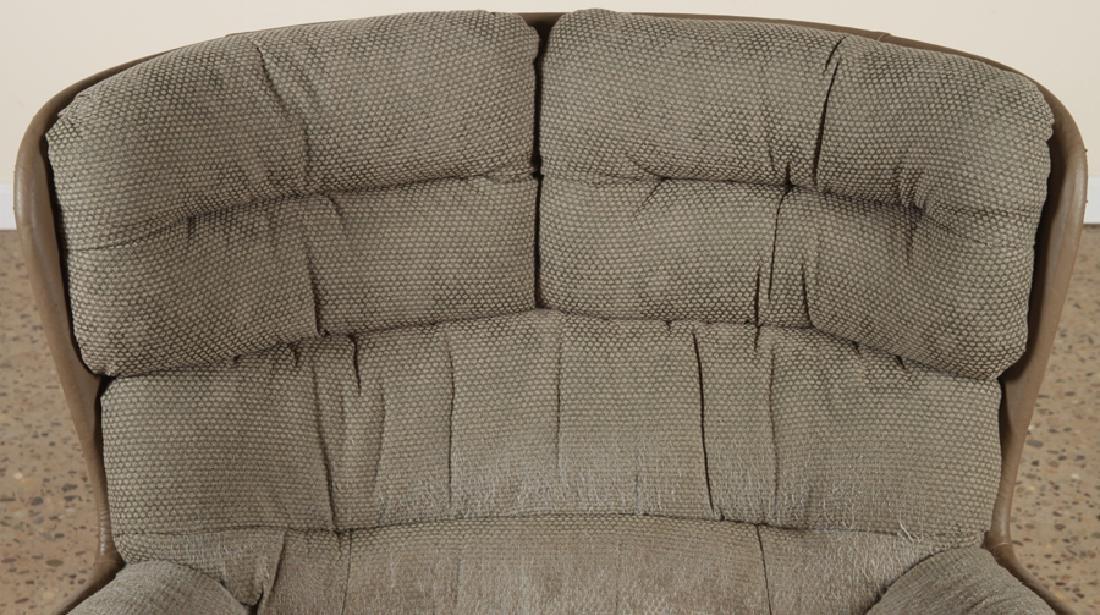 MID CENTURY MODERN EGG CHAIR UPHOLSTERED SEAT - 3