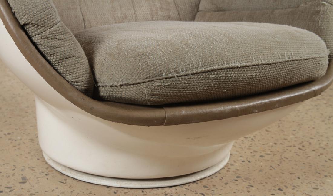 MID CENTURY MODERN EGG CHAIR UPHOLSTERED SEAT - 5