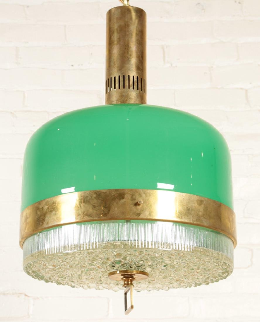 MID CENTURY MODERN TEXTURED GLASS LIGHT FIXTURE