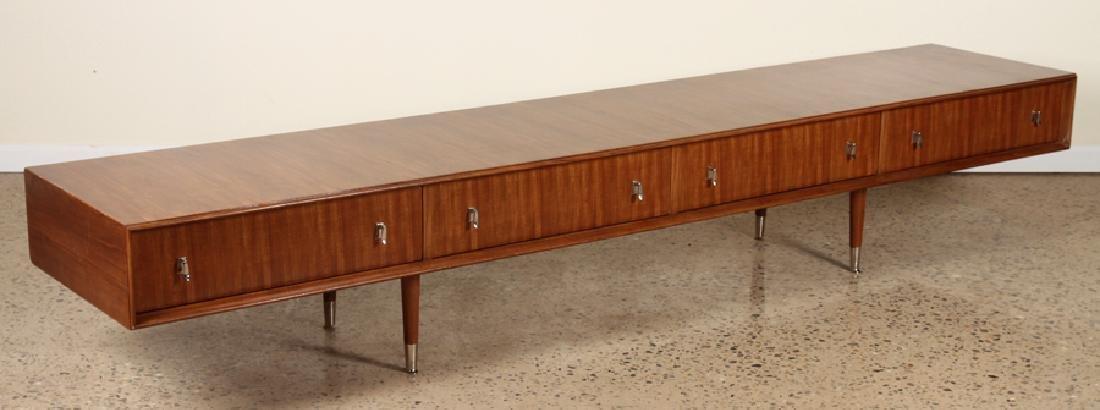 MID CENTURY MODERN WALNUT LOW DRESSER C.1960 - 2