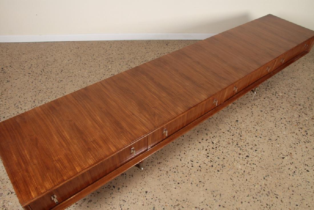 MID CENTURY MODERN WALNUT LOW DRESSER C.1960 - 3
