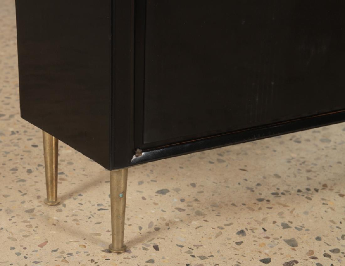 EBONIZED 2 DOOR CABINET BRONZE LEGS CIRCA 1960 - 5