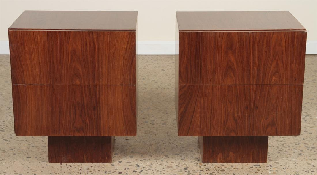 PAIR MID CENTURY MODERN ROSEWOOD END TABLES