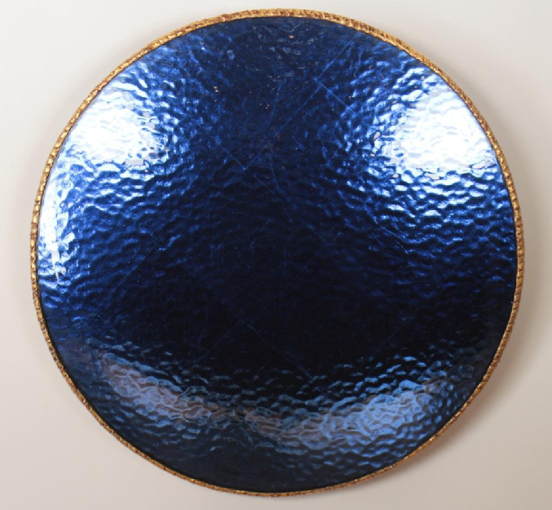GILT RESIN BLUE MIRRORED WALL HANGING