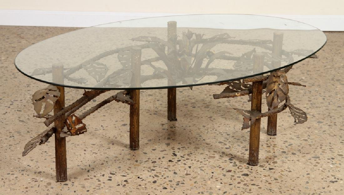 SILAS SEANDEL STYLE COFFEE TABLE IRON BASE