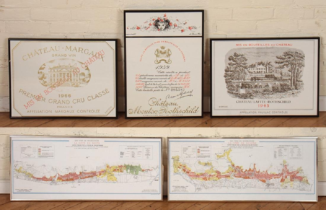 5 PROFESSIONALLY FRAMED FRENCH COLLECTOR ITEMS