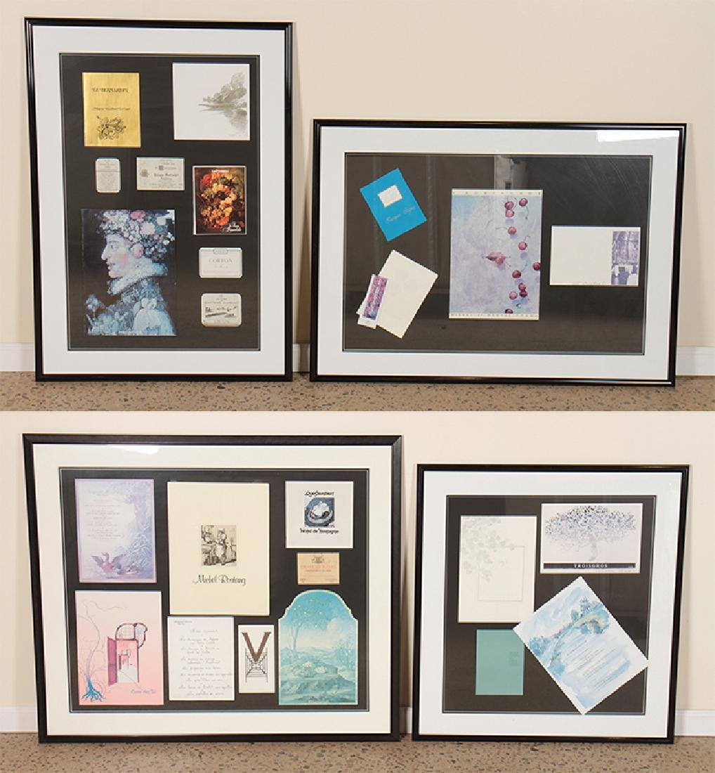 4 PROFESSIONALLY FRAMED FRENCH TRAVEL COLLECTIONS