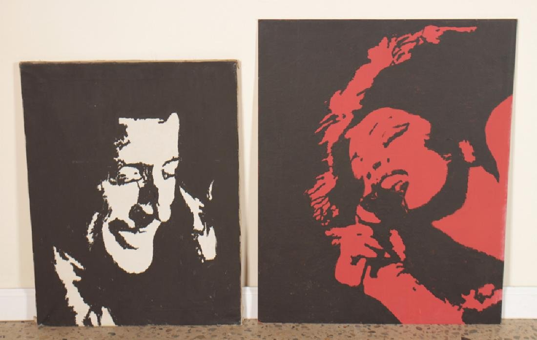 2 SIGNED POP ART PAINTINGS BY R. GLENN