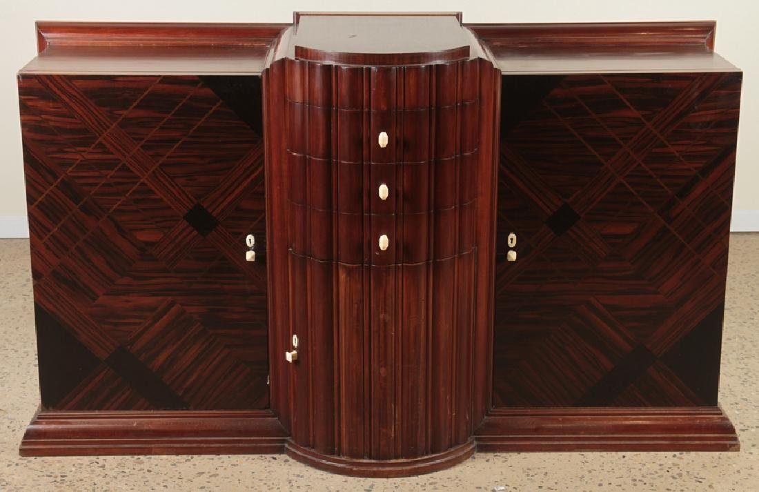 ART DECO SIDEBOARD WITH BAKELITE ACCENTS C. 1930
