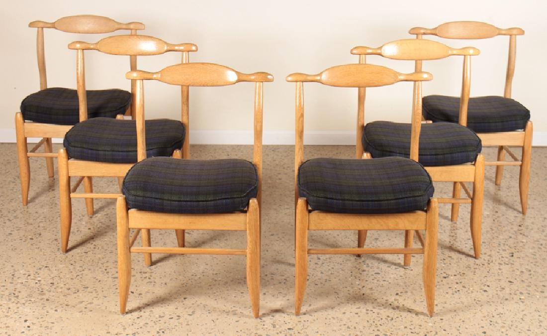 """SET 6 GUILLERME ET CHAMBRON """"FUMAY"""" DINING CHAIRS"""