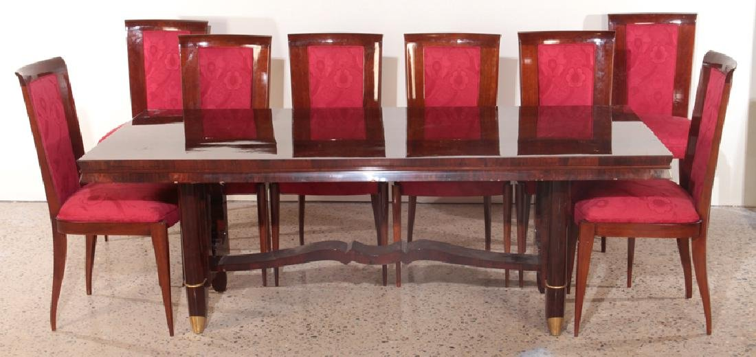 JULES LELEU STYLE FRENCH DINING SUITE CIRCA 1940