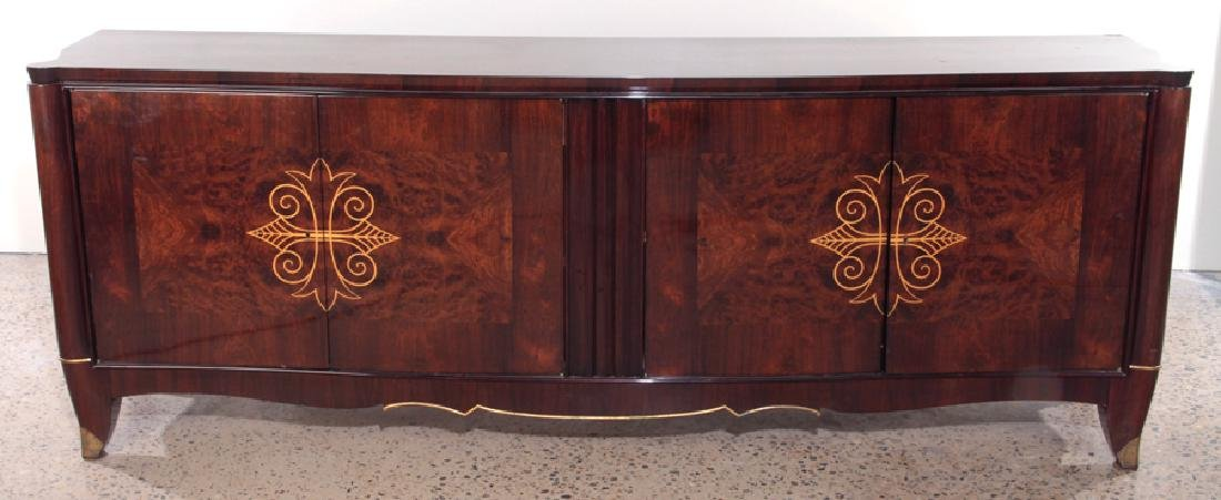 HIGH QUALITY LARGE FRENCH ROSEWOOD SIDEBOARD 1940