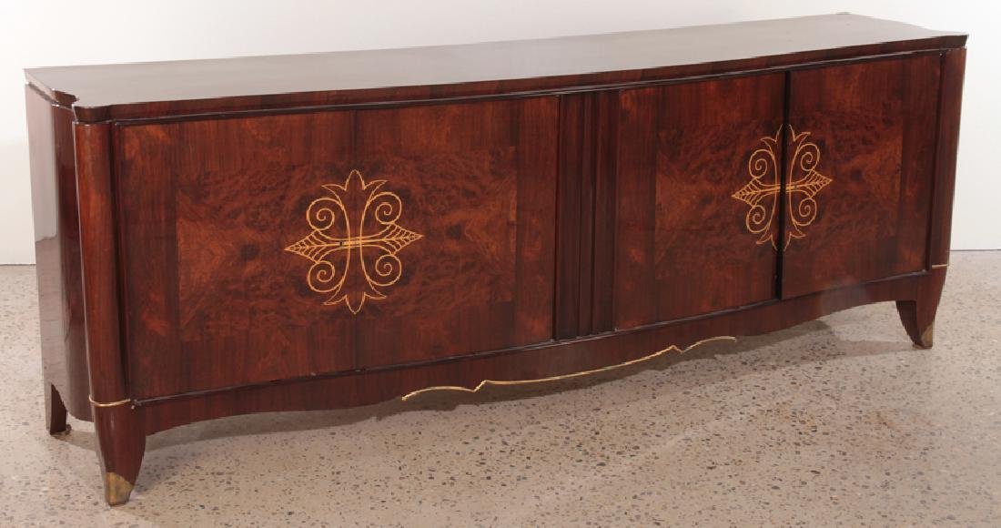HIGH QUALITY LARGE FRENCH ROSEWOOD SIDEBOARD 1940 - 2