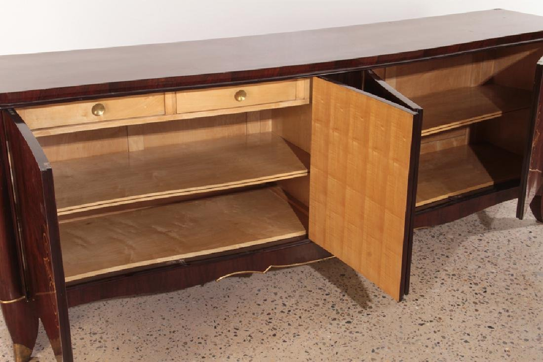 HIGH QUALITY LARGE FRENCH ROSEWOOD SIDEBOARD 1940 - 5