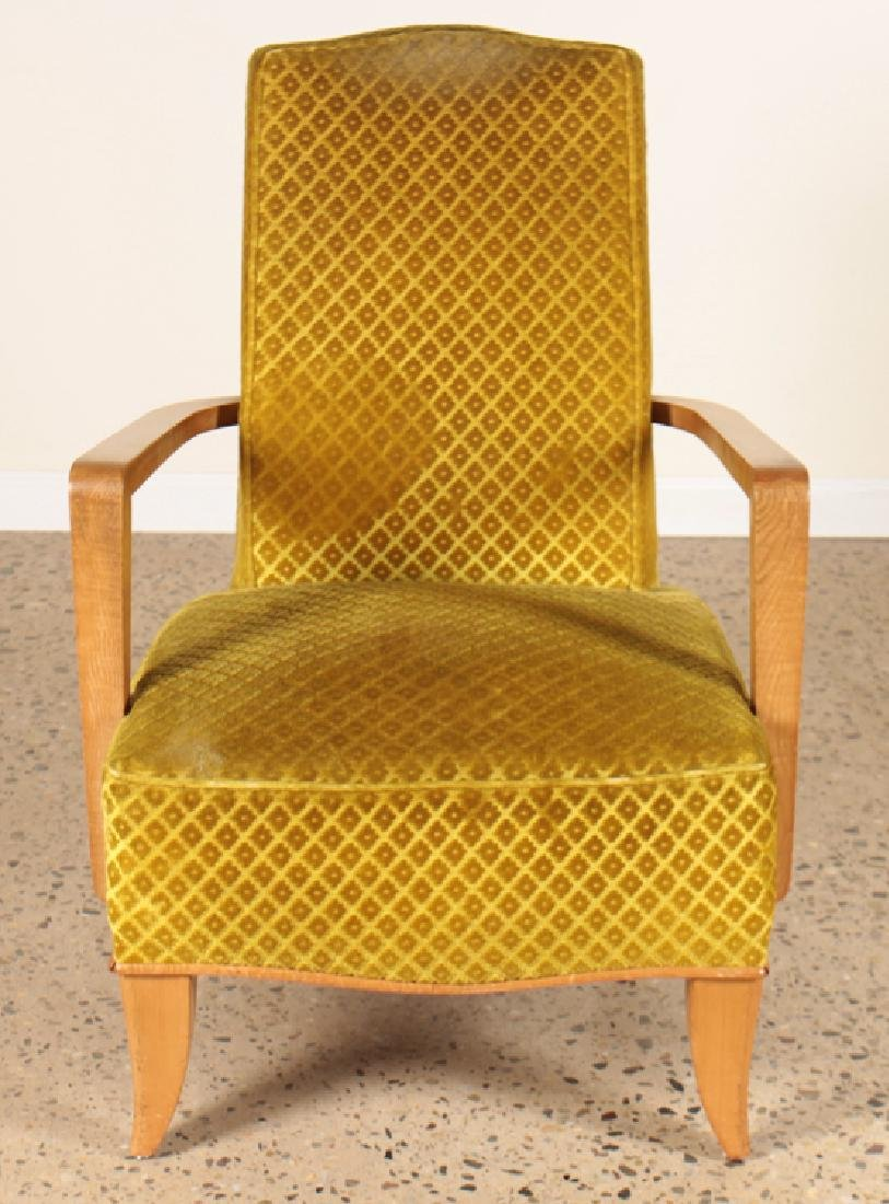 PAIR FRENCH OPEN ARM LOUNGE CHAIRS CIRCA 1940 - 3