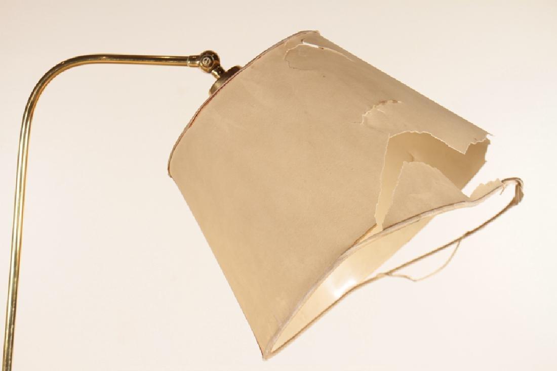 BRASS EBONIZED WOOD FRENCH FLOOR LAMP C.1960 - 2