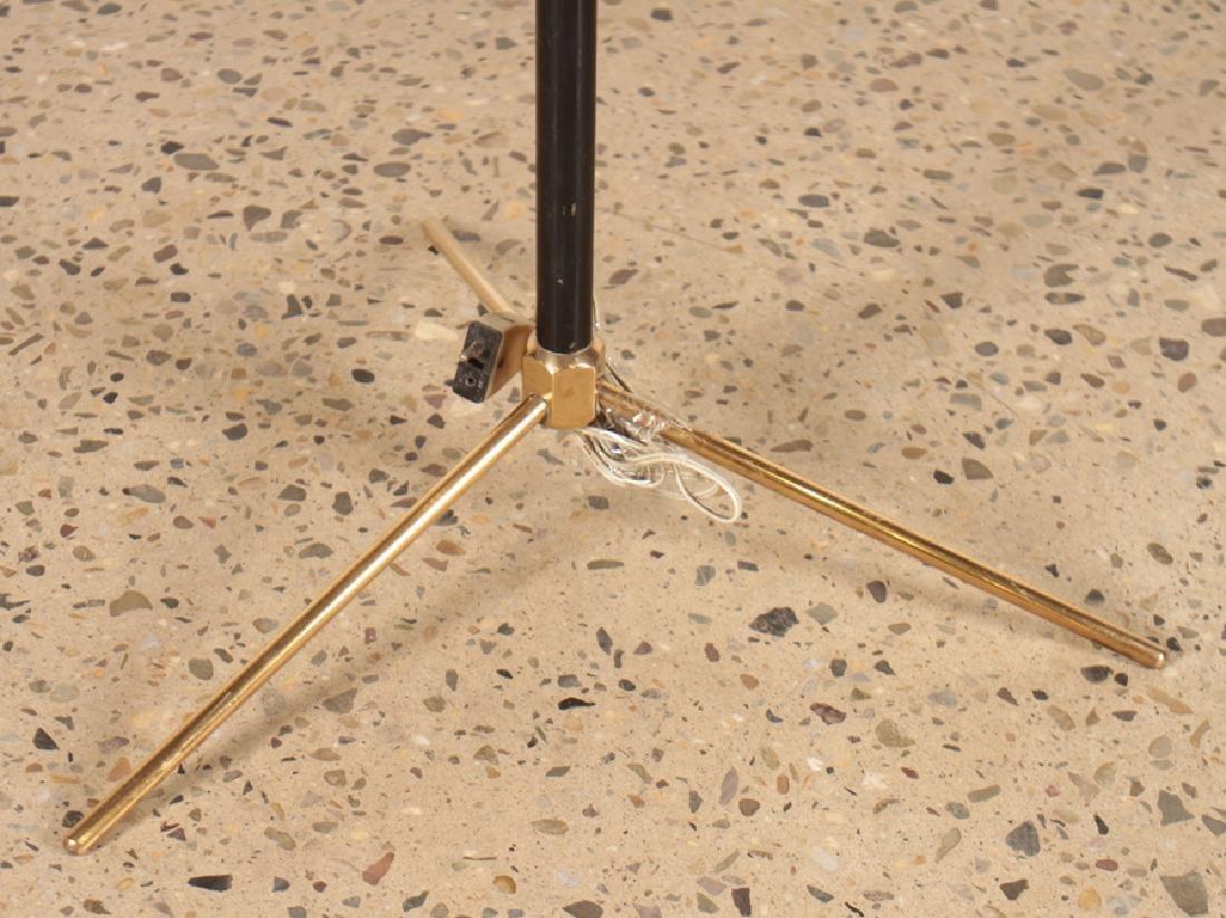 BRASS EBONIZED WOOD FRENCH FLOOR LAMP C.1960 - 4